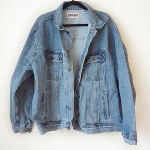 Men's Wrangler rugged wear jean denim jacket XXL